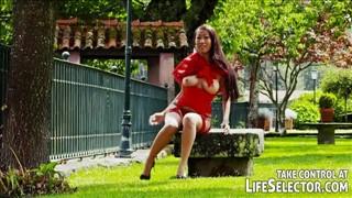 Seks piknik z rudą i Azjatką
