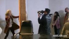 Seks laski na planie filmowym