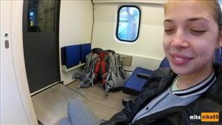Oralna przyjemność w pociągu
