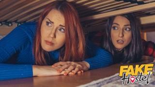Seks w hostelu z dwiema paniami