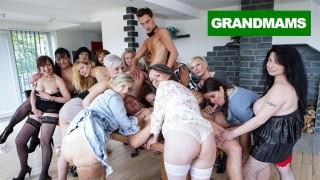 Grupowe porno z dojrzałymi babciami